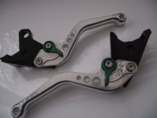Buell 1125R (08-09), CNC levers short silver/green adjusters, F14/C777
